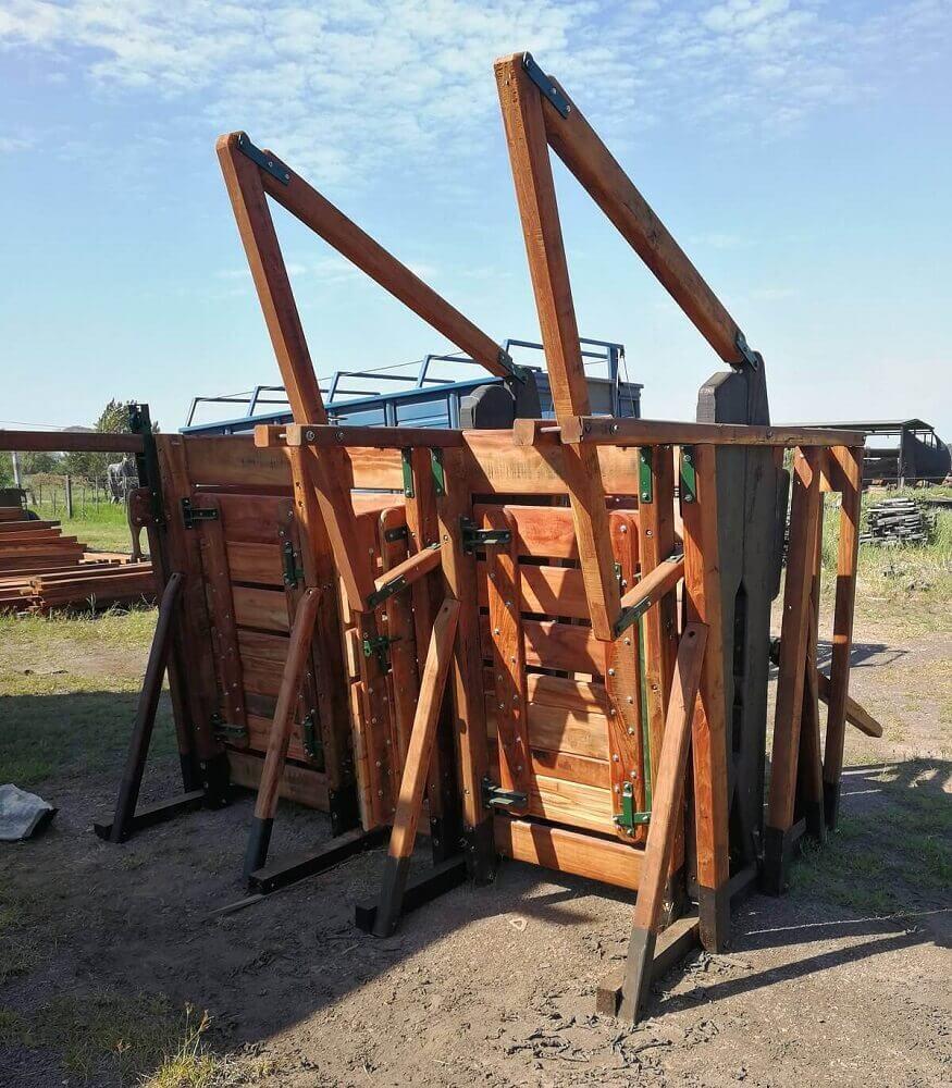 cabina de manejo de ganado bienestar animal