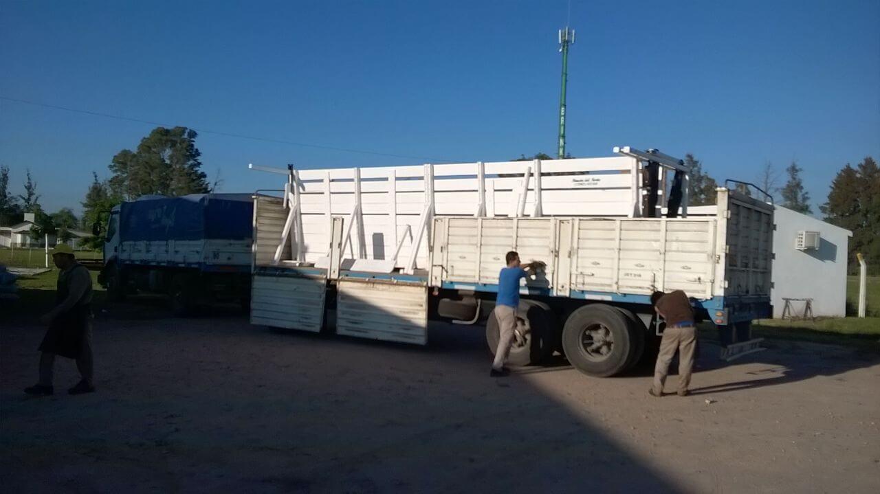 traslado e instalacion de manga ganadera
