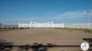 portones tranqueras de ingreso para campos y estancias